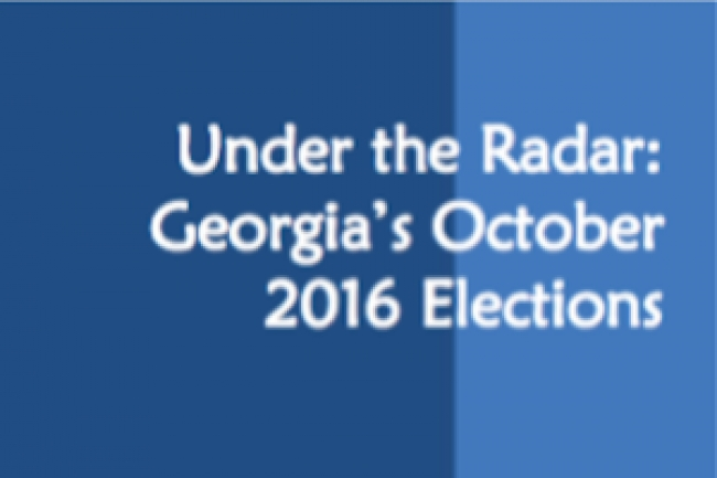 Under the Radar: Georgia's October 2016 Elections